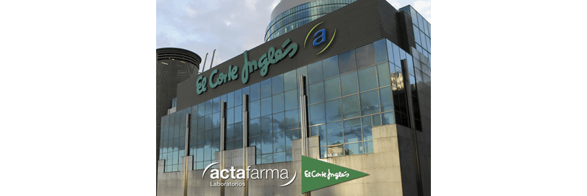 Actafarma laboratorios with El Corte Inglés