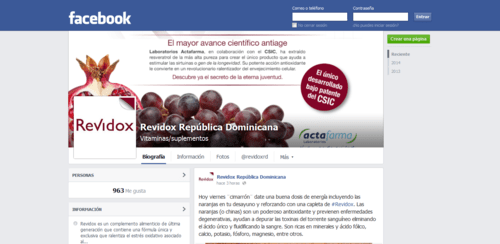 Revidox facebook República Dominicana